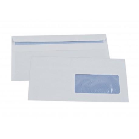Enveloppe Dl 110x220 Avec Fenêtre 35x100 Mm Autoadhésive