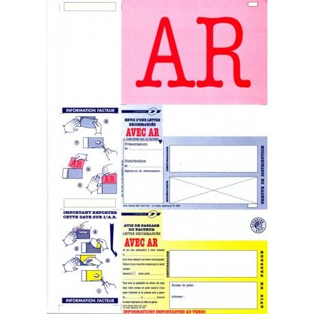 Plis auto-scellables A4 avec AVIS DE RECEPTION pour plieuses-scelleuses