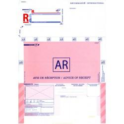 Imprimé A4 International recommandé bureautique, avec AR sans code à barres .