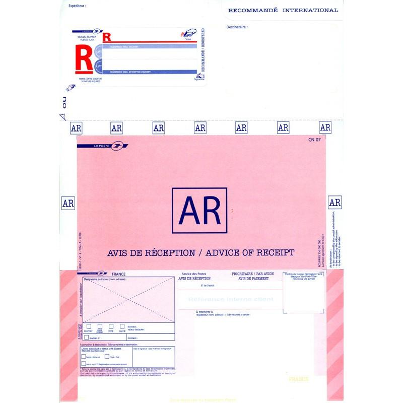 imprim u00e9 recommand u00e9 a4 international bureautique  avec ar
