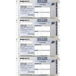Imprimés Recommandé Listing en continu avec AR