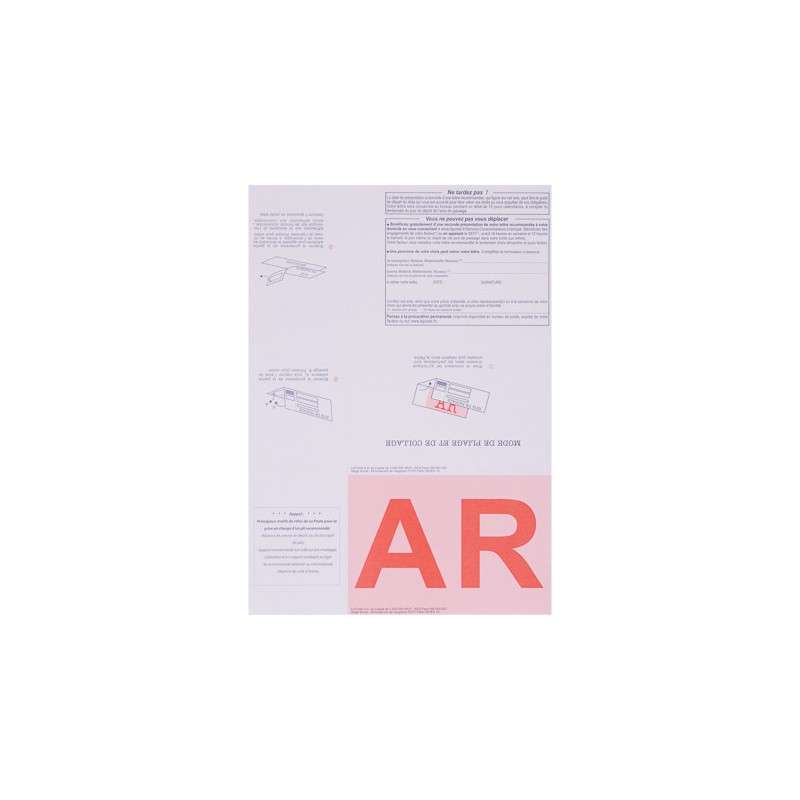recommand imprim a4 avec accus de r ception et code barre. Black Bedroom Furniture Sets. Home Design Ideas