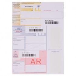 Recommandés A4 avec accusé de réception et Codes Barres