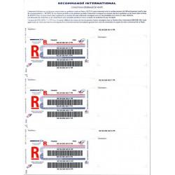 Imprimé Recommandé international sans avis de réception - avec code à barres