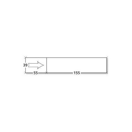 Etiquettes simples courtes avec flèche- 155x39 mm